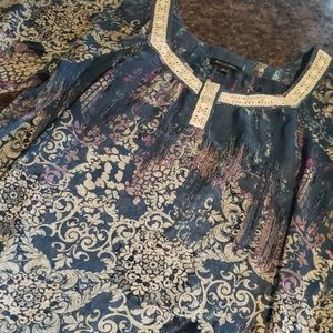 Notations Sheer Blouse